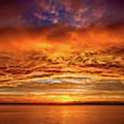 Fire Over Lake Eustis Poster