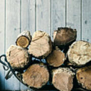 Fire Wood.  Home Living Concept Poster