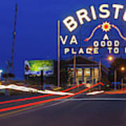 First Night Of The Bristol Sign With New Led Bulbs Poster