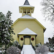 First Presbyterian Church In The Snow Poster