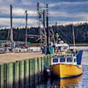 Fishing Boats At Wharf In Marie Joseph Poster