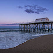 Fishing Pier Sunset Poster