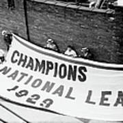Flag Commemorating The Chicago Cubs Poster