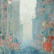 Flags, Afternoon On The Avenue, 1917  Poster