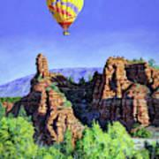 Flight Over Thumb Rock Poster