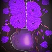 Floral Roses With So Much Passion In Purple  Poster