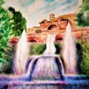 Florence Fountains Poster