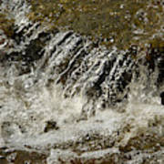 Flowing Water Over Rocks Poster