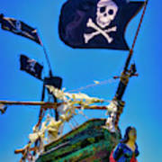 Flying The Pirates Colors Poster