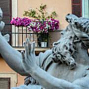 Fontana Dei Quattro Fiumi Poster