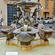 Fontana Delle Tartarughe Poster