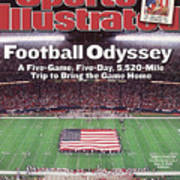 Football Odyssey A Five-game, Five-day, 5,520-mile Trip To Sports Illustrated Cover Poster
