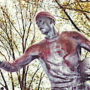 Football Statue - Rutgers University Poster