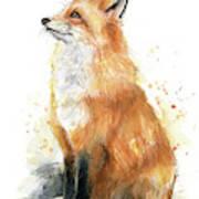 Fox Watercolor Poster