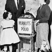 Frank Sinatra Buying Peanuts For Polio Poster