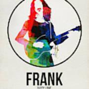 Frank Zappa Watercolor Poster