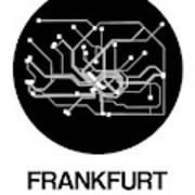 Frankfurt Black Subway Map Poster