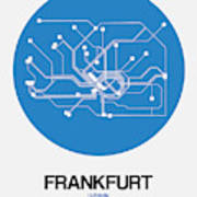 Frankfurt Blue Subway Map Poster