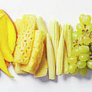 Fruit & Vegetable Color Wheel Poster