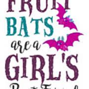 Fruit Bat Conservation Halloween Flying Fox Women Light Poster