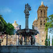 Fuente De Puebla Poster