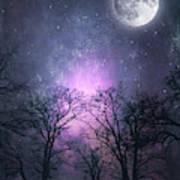 Full Moon Night Magic Poster