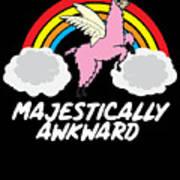 Funny Llamacorn Majestically Awkward Alpaca Lama Poster