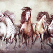 Galloping Horses Magnificent Seven Poster