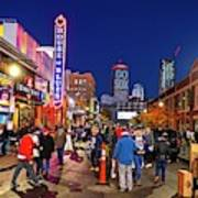 Game Night On Lansdowne Street 2018 World Series Red Sox Boston Ma 2 Poster