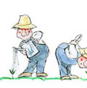 Garden Guy Planting Poster