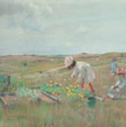 Gathering Flowers, Shinnecock, Long Island, 1897 Poster