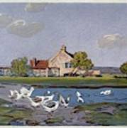 Geese, 1897 Poster