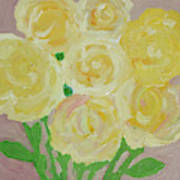 Gentle Yellow Bouquet Poster