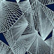 Geometric Pattern 1-colour-2 Poster