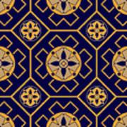 Geometric Seamless Pattern Poster