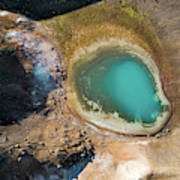 Geothermal Area And Lake Poster