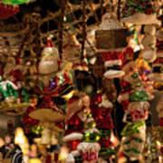German Christmas Ornaments Poster