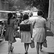 German Schoolgirls Poster