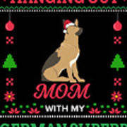 German Shepherd Ugly Christmas Sweater Xmas Gift Poster
