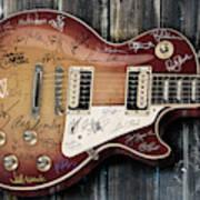 Gibson Les Paul Guitar Fantasy Poster