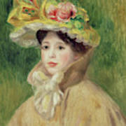 Girl With Yellow Cape, 1901 Poster