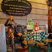 Gogarty And Joyce Statues Two Poster