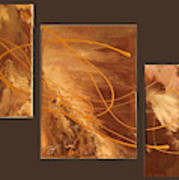 Wings Of Gold Brown Bckgrnd Poster