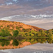 Golden Hour Contemplation At Moss Lake - Enchanted Rock Fredericksburg Texas Hill Country Poster