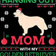 Golden Retriever Ugly Christmas Sweater Xmas Gift Poster