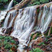 Golden Waterfall Poster