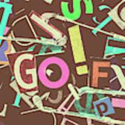 Golfing Print Press Poster