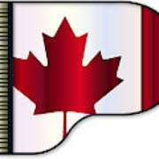 Grand Piano Canadian Flag Poster