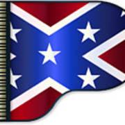 Grand Piano Confederate Flag Poster