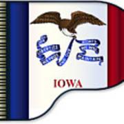 Grand Piano Iowa Flag Poster